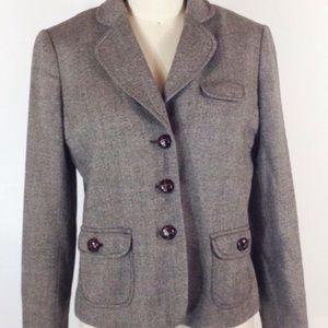 Banana Republic brown tweed wool blazer 4